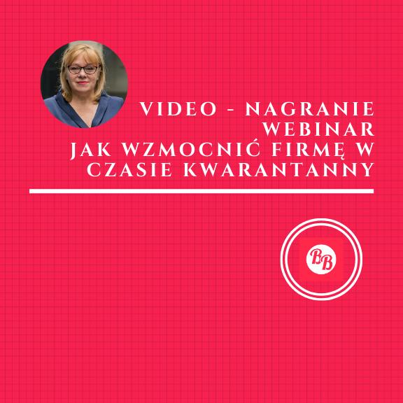 video - Jak wzmocnić firmę w czasie kwarantanny